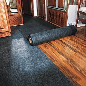 Floor Protection Board Patrol - Covering hardwood floors with carpet